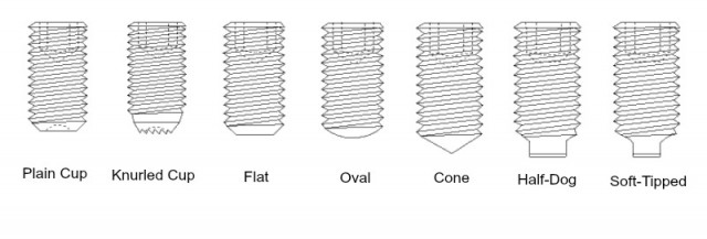 Set screw point styles and their uses | Fasteners, bolts