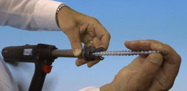 Strip-fed Speed Fastening® rivets install quickly with a reusable mandrel.